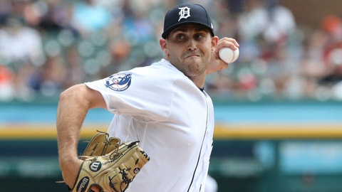 <p>               Detroit Tigers starting pitcher Matthew Boyd throws during the first inning of a baseball game against the Minnesota Twins, Sunday, Aug. 12, 2018, in Detroit. (AP Photo/Carlos Osorio)             </p>