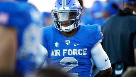 <p>               FILE- In this Nov. 4, 2017, file photo, Air Force quarterback Arion Worthman looks on as time winds down in the second half of an NCAA college football game against Army at Air Force Academy, Colo. Leaner and faster than last season, Worthman is ready to lead the Falcons into the Mountain West season ahead. (AP Photo/David Zalubowski, File)             </p>