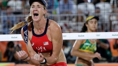 <p>               FILE - In this Aug. 17, 2016 file photo, United States' Kerri Walsh Jennings reacts while playing Brazil during the women's beach volleyball bronze medal match of the 2016 Summer Olympics in Rio de Janeiro, Brazil. Walsh Jennings will call it a career in beach volleyball after the Tokyo Olympics in two years. And the three-time Olympic gold medalist absolutely plans to go out with another gold around her neck from the 2020 Games after she and partner April Ross wound up with bronze at Rio in 2016, a heartbreaking disappointment that still stings for Walsh Jennings yet fuels her at the same time. (AP Photo/Marcio Jose Sanchez, File)             </p>