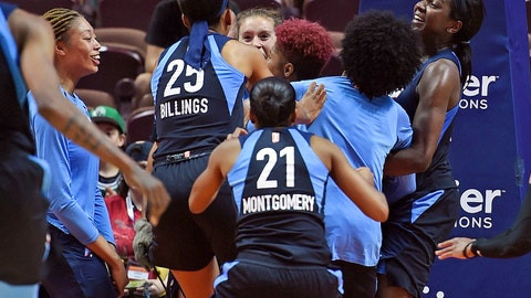 <p>               FILE - In this July 17, 2018, file photo, Atlanta Dream players mob Tiffany Hayes after her buzzer-beating 3-pointer against the Connecticut Sun at the end of a WNBA basketball game in Uncasville, Conn. With that dismal 2017 season firmly in the rear-view mirror, Atlanta is heading back to the playoffs as one of the league's hottest teams, carrying high hopes of finally winning its first WNBA championship. (Sean D. Elliot/The Day via AP, File)             </p>