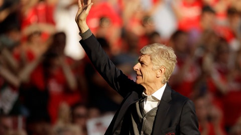 <p>               FILE - In this Sunday, May 6, 2018 file photo, Arsenal's French manager Arsene Wenger waves to spectators during his lap of honor at the Emirates Stadium in London. Liberia President George Weah has handed his former Monaco coach Arsene Wenger one of the west African nation's highest honors at a ceremony held in the capital on Friday, Aug. 24. Wenger received The Humane Order of African Redemption for nurturing Weah and other Africans during their soccer careers in Europe.(AP Photo/Matt Dunham, File)             </p>