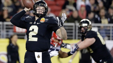 <p>               FILE - In this Dec. 27, 2017, file photo, Purdue quarterback Elijah Sindelar throws against Arizona during the first half of the Foster Farms Bowl NCAA college football game in Santa Clara, Calif. David Blough returned from surgery in time for spring football, a recovery he hopes will be enough to win back the starting job. Sindelar went 3-1 after replacing Blough and despite playing the final 3 1/2 games with a torn anterior cruciate ligament in his left knee. He didn't participate in spring practice and is only now starting to round into form. (AP Photo/Marcio Jose Sanchez, File)             </p>