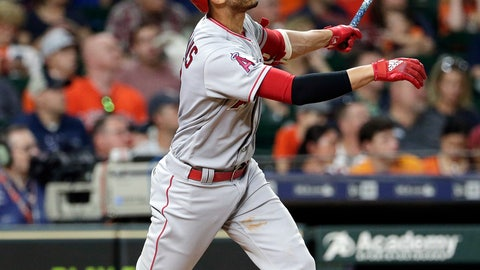 <p>               Los Angeles Angels' Andrelton Simmons watches his two-run home run during the sixth inning of a baseball game against the Houston Astros, Friday, Aug. 31, 2018, in Houston. (AP Photo/Michael Wyke)             </p>