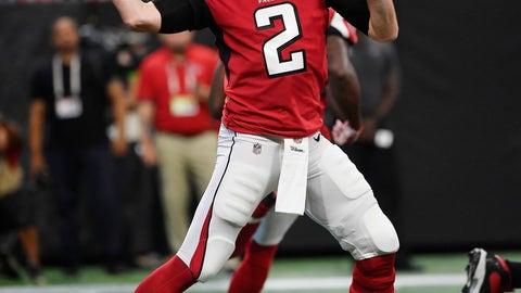 <p>               Atlanta Falcons quarterback Matt Ryan (2) passes against the Kansas City Chiefs during the first half of an NFL preseason football game, Friday, Aug. 17, 2018, in Atlanta. (AP Photo/John Amis)             </p>
