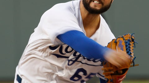 <p>               Kansas City Royals starting pitcher Jakob Junis throws during the first inning of a baseball game against the Detroit Tigers Tuesday, Aug. 28, 2018, in Kansas City, Mo. (AP Photo/Charlie Riedel)             </p>
