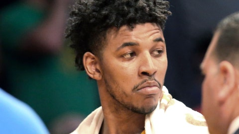 <p>               FILE - In this March 17, 2017 file photo, Los Angeles Lakers guard Nick Young is ejected from a game after a scuffle during a basketball game against the Milwaukee Bucks in Los Angeles. Los Angeles police say NBA free agent Young was arrested in Hollywood during a late-night stop for a routine traffic violation late Friday, Aug. 24, 2018. Police say Young was arrested for for delaying an investigation, a misdemeanor, alleging Young didn't obey the officers, became upset and caused a delay. Young played for the champion Golden State Warriors in the 2017-2018 season. (AP Photo/Reed Saxon, File)             </p>