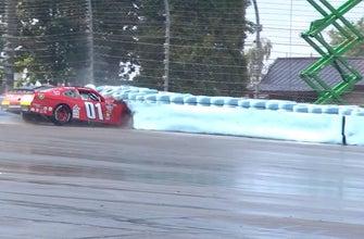 Vinnie Miller goes head-on into the tire barrier at Watkins Glen | 2018 NASCAR XFINITY SERIES