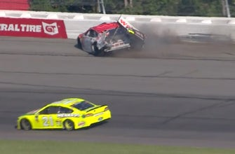 Paul Menard describes his front row seat for Bubba Wallace's vicious wreck