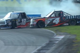 Todd Gilliland & Noah Gragson comment on their controversial finish in Canada | 2018 TRUCK SERIES | FOX NASCAR