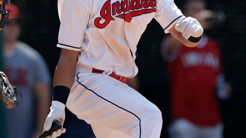 <p>               Cleveland Indians' Michael Brantley hits a game-winning RBI-single off Minnesota Twins relief pitcher Addison Reed in the ninth inning of a baseball game, Thursday, Aug. 9, 2018, in Cleveland. Greg Allen scored on the play. The Indians won 5-4. (AP Photo/Tony Dejak)             </p>