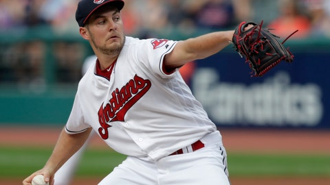 <p>               Cleveland Indians starting pitcher Trevor Bauer delivers in the first inning of a baseball game against the Minnesota Twins, Monday, Aug. 6, 2018, in Cleveland. (AP Photo/Tony Dejak)             </p>