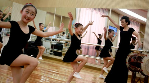 <p>               In this Thursday, July 26, 2018, photo, girls dance in a studio at the Mangyongdae Children's Palace in Pyongyang, North Korea. Mangyongdae Children's Palace is for talented school children to attend extracurricular classes and a popular place for tourists to visit during their stay in the capital. (AP Photo/Dita Alangkara, File)             </p>