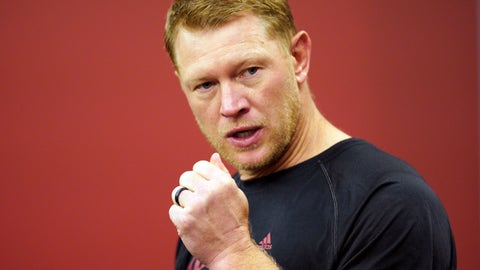 <p>               Nebraska head coach Scott Frost speaks during an NCAA college football news conference in Lincoln, Neb., Thursday, Aug. 2, 2018. Frost has said repeatedly that Nebraska made a mistake moving away from the methods Osborne successfully used. Frost's job is to return his team to the place it held in the college football hierarchy two decades ago by returning to the methods Osborne used on and off the field to make the Cornhuskers great. 2018. (AP Photo/Nati Harnik)             </p>