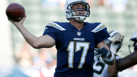 <p>               FILE - In this Aug. 25, 2018, file photo, Los Angeles Chargers quarterback Philip Rivers throws a pass during the first half of the team's NFL preseason football game against the New Orleans Saints, in Carson, Calif. Everything is in place for the Chargers to make a playoff run, perhaps even a Super Bowl surge. But after years of unfulfilled potential and catastrophic injury setbacks, even the Chargers themselves are waiting to see how the season develops before pronouncing themselves contenders. (AP Photo/Jae C. Hong, File)             </p>