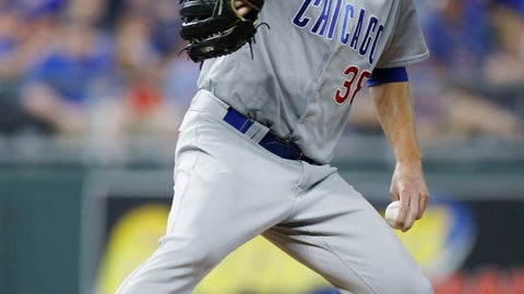 <p>               Chicago Cubs pitcher Mike Montgomery winds up during the fifth inning of the team's baseball game against the Kansas City Royals at Kauffman Stadium in Kansas City, Mo., Tuesday, Aug. 7, 2018. (AP Photo/Colin E. Braley)             </p>
