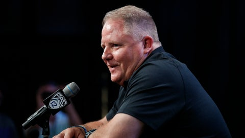 <p>               FILE - In this July 25, 2018, file photo, UCLA head coach Chip Kelly speaks at the Pac-12 Conference NCAA college football Media Day in Los Angeles. Kelly, who confounded opposing teams with his blur offense for the Oregon Ducks a few years back, returns to the Pac-12 this season as head coach of the UCLA Bruins. (AP Photo/Jae C. Hong, File)             </p>