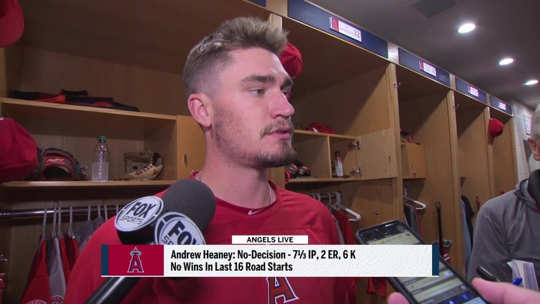 Andrew Heaney talks about his lights out performance in San Diego and help on defense from teammates