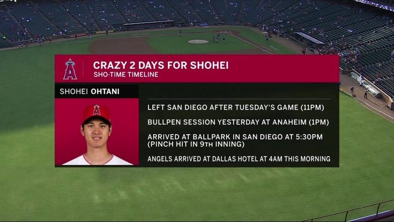 Shohei Ohtani continues to rake at the plate while progressing as pitcher