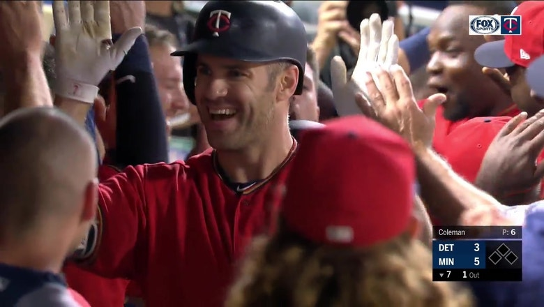 WATCH: Twins' Joe Mauer delivers with pinch-hit homer