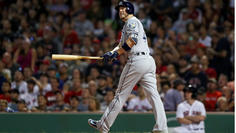 C.J. Cron ties Rays' record for longest home run in 5-2 loss to Red Sox