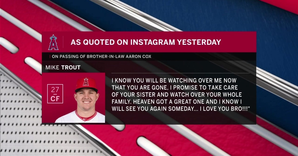 Mike trout pays tribute to aaron cox fox sports solutioingenieria Images