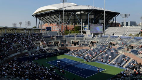 <p>               Fans sit mostly in the shaded seats as they watch John Isner and Nicolas Jarry, of Chile, compete during the second round of the U.S. Open tennis tournament, Wednesday, Aug. 29, 2018, in New York. (AP Photo/Seth Wenig)             </p>