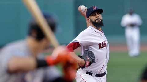 <p>               Boston Red Sox starting pitcher David Price delivers during the first inning of a baseball game against the Miami Marlins at Fenway Park in Boston, Wednesday, Aug. 29, 2018. (AP Photo/Charles Krupa)             </p>