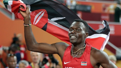 <p>               FILE - In this Tuesday, Aug. 25, 2015, file photo, Kenya's Nicholas Bett celebrates after winning the men's 400m hurdles final at the World Athletics Championships at the Bird's Nest stadium in Beijing. The ex-hurdles world champion Bett, 28, has been killed in a road accident. Nandi county police commander Patrick Wambani says Bett was killed in the car crash early Wednesday morning near Kenya's high-altitude training region of Eldoret. Bett's coach Vincent Mumo says the athlete's SUV hit bumps in a road and rolled. (AP Photo/Lee Jin-man, File)             </p>