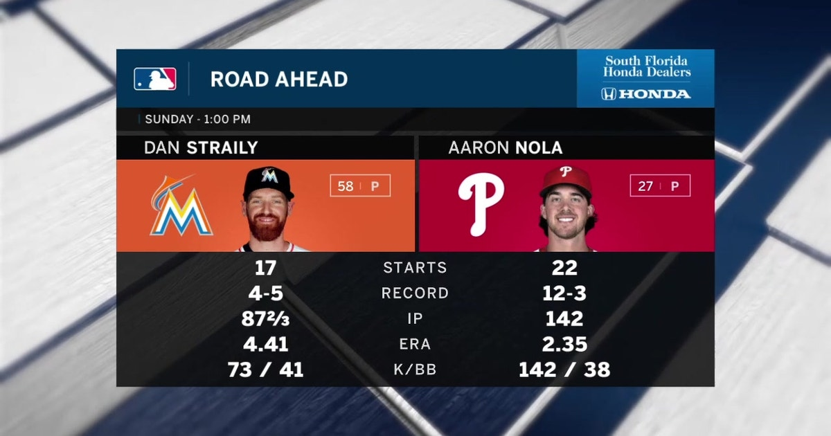 Marlins need to best All-Star Aaron Nola to avoid sweep in Philly | FOX Sports