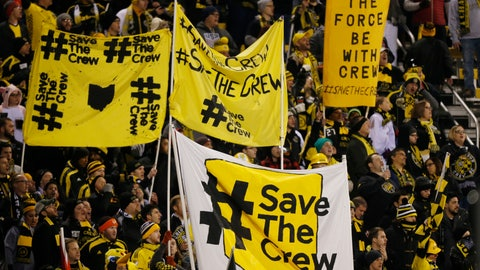 <p>               FILE - In this Oct. 31, 2017, file photo, Columbus Crew fans show their support for the team before the start of their MLS Eastern Conference semifinal soccer match against New York City FC in Columbus, Ohio. The Austin City Council is scheduled to decide Wednesday, Aug. 15, 2018 whether to move ahead with a stadium plan that could prompt Major League Soccer's Columbus Crew to leave its home city after 22 years. (AP Photo/Jay LaPrete, File)             </p>