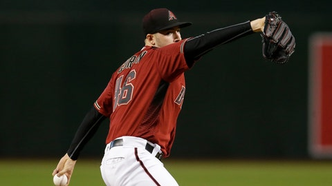<p>               Arizona Diamondbacks pitcher Patrick Corbin throws in the first inning of a baseball game against the Philadelphia Phillies, Wednesday, Aug. 8, 2018, in Phoenix. (AP Photo/Rick Scuteri)             </p>