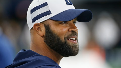 <p>               In this Saturday, Aug. 18, 2018, photo, Dallas Cowboys assistant coach Kris Richard walks on the field before an preseason NFL Football game in Arlington, Texas. Richard wears cleats to practice just in case the new secondary coach of the Dallas Cowboys decides to jump in on a play, which he did in training camp. (AP Photo/Ron Jenkins)             </p>