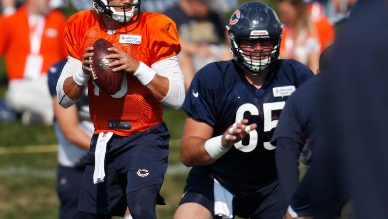 Bears QB Trubisky getting on same page with Robinson, Burton