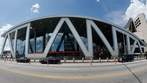 <p>               FILE - This July 6, 2017, file photo shows Philips Arena, home of the Atlanta Hawks NBA basketball team, in Atlanta. Philips Arena in Atlanta is being renamed for State Farm after a $192.5 million renovation. The Atlanta Hawks and the insurance company announced Wednesday, Aug. 29, 2018, they have reached a 20-year deal on the naming rights for the arena, which is currently in the final phase of its renovation. The arena is expected to reopen in October. (AP Photo/John Bazemore, File)             </p>
