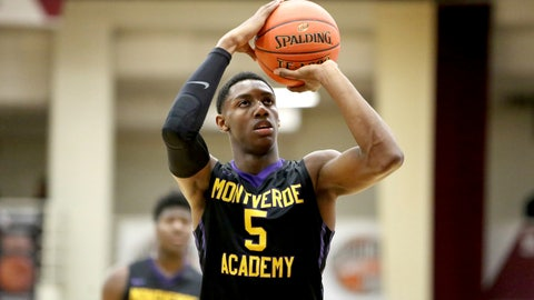 <p>               File-This Jan. 13, 2018, file photo shows Montverde Academy's R.J. Barrett shooting a free throw against Simeon Career Academy during a high school basketball game at the Hoophall Classic, in Springfield,Mass. Duke freshman Barrett is ready for his homecoming games, and his college career hasn't even formally begun yet. The native of Canada figures to be the center of attention when the Blue Devils play three exhibition games north of the border, beginning next week in Barrett's hometown outside Toronto and also near Montreal. (AP Photo/Gregory Payan, File)             </p>