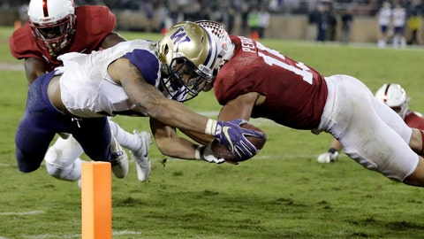 <p>               FILE - In this Nov. 10, 2017, file photo, Washington running back Myles Gaskin, left, scores a touchdown against Stanford during the second half of an NCAA college football game in Stanford, Calif. Gaskin is likely to rewrite the record book for No. 6 Washington by the end of his senior season. But he'll have help this season in the form of sophomore Salvon Ahmed. The duo get a major test out of the gates against No. 9 Auburn. (AP Photo/Marcio Jose Sanchez, File)             </p>