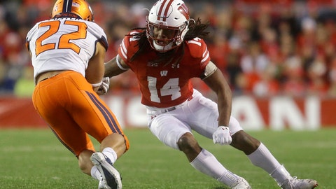 <p>               File-This Nov. 12, 2016, file photo shows Wisconsin's D'Cota Dixon tackling Illinois' Kendrick Foster during an NCAA college football game in Madison, Wis. Wisconsin's typically rugged defense is getting a makeover on the edges, with new starters at cornerback, outside linebacker and defensive end. Linebackers T.J. Edwards and Ryan Connelly help form an experienced core inside.  (AP Photo/Aaron Gash, File)             </p>