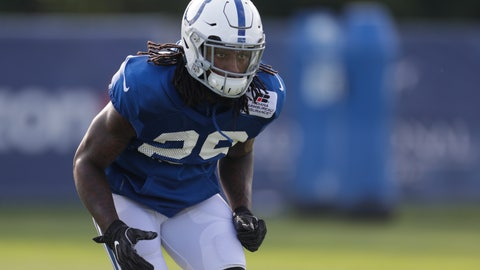<p>               FILE - In this Aug. 5, 2018, file photo, Indianapolis Colts defensive back Malik Hooker (29) runs a drill during practice at the NFL team's football training camp in Westfield, Ind. Hooker looks around the Indianapolis Colts' newly-renovated locker room and reflects on his long journey back to football. He smiles, he laughs nervously and, naturally, he's a little anxious to test his surgically-repaired right knee. The Colts' starting safety has never faced such a severe injury or such a complex recovery, and the next step is seeing how it holds up in game conditions. (AP Photo/Michael Conroy, File)             </p>