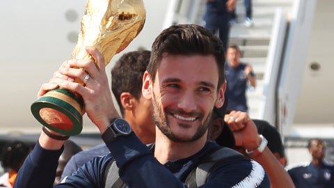 <p>               FILE - In this Monday, July 16, 2018 file photo French goalkeeper and captain Hugo Lloris holds the cup as the French soccer team arrives at Charles de Gaulle airport in Roissy, north of Paris. France's World Cup-winning captain Hugo Lloris has been charged with drunken driving in London. The Metropolitan Police says the Tottenham goalkeeper was charged on Friday Aug. 24 following a routine patrol stop. (AP Photo/Bob Edme, File)             </p>