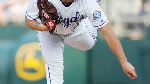 <p>               Kansas City Royals pitcher Danny Duffy throws to a St. Louis Cardinals batter in the first inning of a baseball game at Kauffman Stadium in Kansas City, Mo., Saturday, Aug. 11, 2018. (AP Photo/Colin E. Braley)             </p>