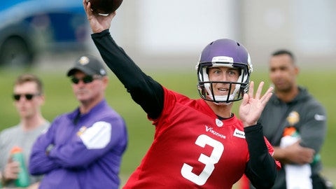 <p>               FILE - In this July 26, 2018, file photo, Minnesota Vikings quarterback Trevor Siemian throws a pass during NFL football training camp in Eagan, Minn. Barring injury, Siemian will be the backup to Kirk Cousins, who signed a three-year, $84 million contract as Minnesota's starter. (AP Photo/Jim Mone, File)             </p>