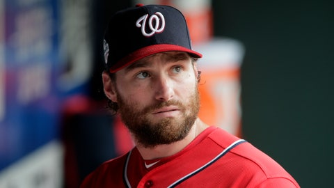 <p>               FILE - In this July 15, 2018 file photo, Washington Nationals' Daniel Murphy looks out at the field during the second inning of the MLB baseball game against the New York Mets at Citi Field, in New York.  The Washington Nationals have traded second baseman Daniel Murphy to the Chicago Cubs.  (AP Photo/Seth Wenig)             </p>