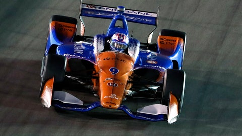 <p>               Scott Dixon, of New Zealand, drives during the IndyCar auto race at Gateway Motorsports Park on Saturday, Aug. 25, 2018, in Madison, Ill. (AP Photo/Jeff Roberson)             </p>