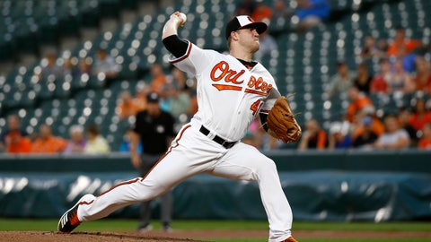 <p>               Baltimore Orioles starting pitcher David Hess throws to the Toronto Blue Jays in the first inning of a baseball game, Monday, Aug. 27, 2018, in Baltimore. (AP Photo/Patrick Semansky)             </p>