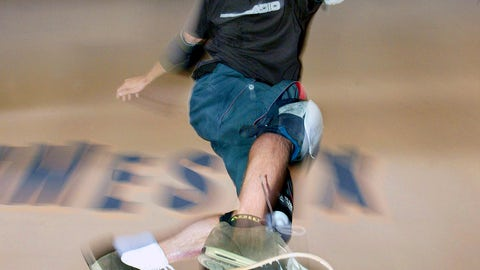 <p>               FILE - In this Friday, Aug. 15, 2003 file photo, Tony Hawk of Carlsbad, Calif. slides a rail during the X-Games - skateboard vert practice held at the Staples Center in Los Angeles. eave it to Tony Hawk to mix a decades-old skateboarding trick with the latest in virtual reality technology.  The 50-year-old skateboarding pioneer and entrepreneur is dragging his 360-degree loop ramp out of storage and giving a handful of young skaters the chance to try to nail the near-impossible trick on a live virtual reality broadcast Sunday afternoon, Aug. 26, 2018 from his corporate headquarters in northern San Diego County. (AP Photo/Chris Polk, File)             </p>