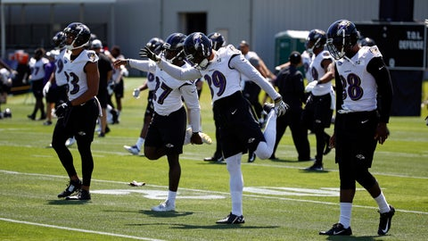 <p>               FILE - In this July 19, 2018, file photo, Baltimore Ravens cornerbacks Jackson Porter, from left, Darious Williams, Bennett Jackson and Stanley Jean-Baptiste stretch during an NFL football training camp practice at the team's headquarters in Owings Mills, Md. In recent years, the presence of yoga has grown in the NFL. The fast-paced, hard-hitting sport has accepted the more calming practice that emphasizes conscious breathing and body flow. Much like yin and yang, the two complement each other both mentally and physically. (AP Photo/Patrick Semansky, File)             </p>