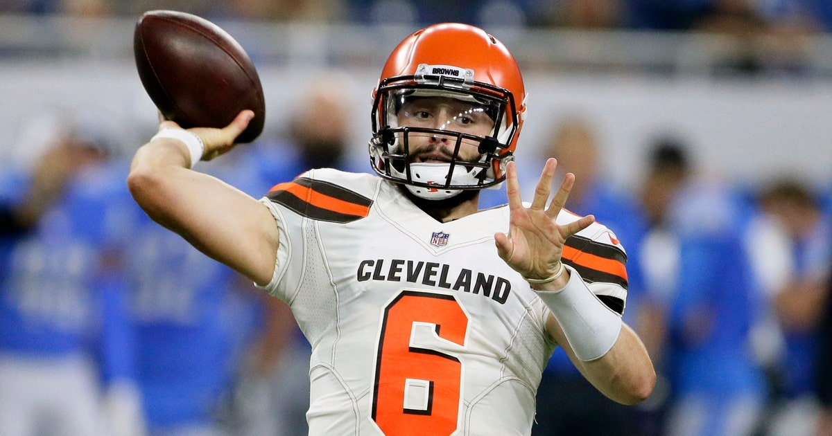 dea39c920 Mayfield sharp as Browns roll over Lions 35-17