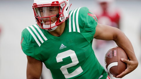 <p>               FILE - In this Aug. 8, 2018, file photo, Nebraska quarterback Adrian Martinez (2) runs with the ball during NCAA college football fall practice in Lincoln, Neb. Martinez beat out redshirt freshman Tristan Gebbia for the starter's job and is line to be the first true freshman quarterback to start a season opener in program history. The Cornhuskers open against Akron on Saturday night. (AP Photo/Nati Harnik, File)             </p>