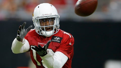 <p>               Arizona Cardinals wide receiver Greg Little reaches out to catch a pass during NFL football practice Thursday, Aug. 9, 2018, in Glendale, Ariz. (AP Photo/Ross D. Franklin)             </p>
