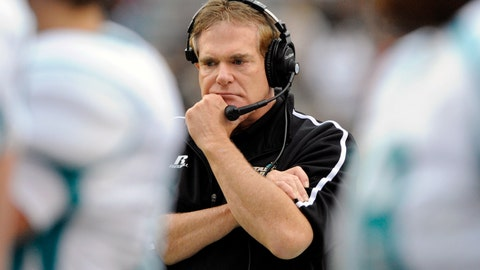 <p>               FILE - In this Nov. 23, 2013, file photo, Coastal Carolina head coach Joe Moglia paces the sideline during the second half of an NCAA college football game against South Carolina in Columbia, S.C. Moglia is back and ready to address the mistakes that led to the Chanticleers' losing season in their first year in the Sun Belt Conference. Moglia missed last fall to be treated for a bronchial asthmatic reaction to allergies. (AP Photo/Stephen Morton, File)             </p>